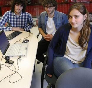 Jorge Fernández, Víctor González y Silvana Buchwald